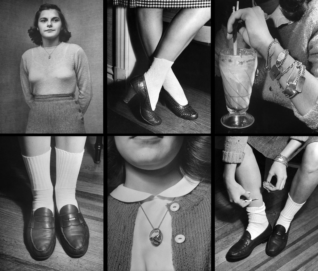 life:  Teenage fashions from the 40s. (Nina Leen—Time & Life Pictures/Getty Image)