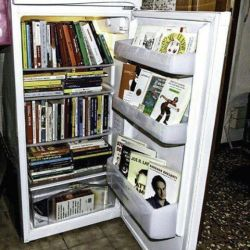 picadorbookroom:  Because really, what else would you do with a broken fridge? (Image stolen from Lawrence Public Library.)