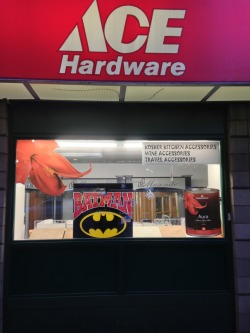 This hardware store carries Batman.