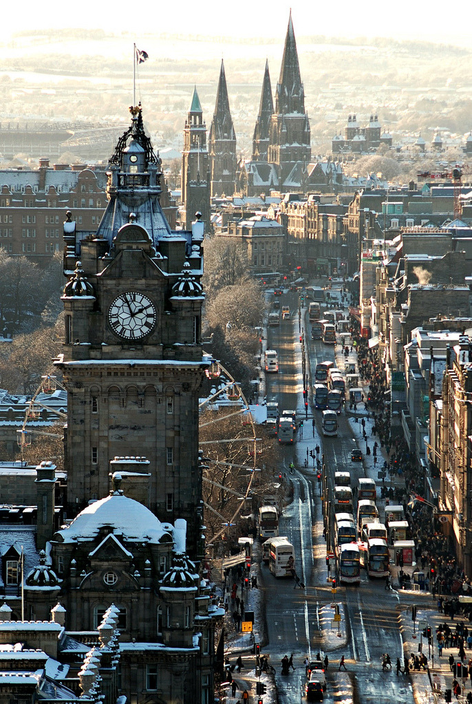 travelingcolors:  Princes Street, Edinburgh | Scotland (by bio milch)