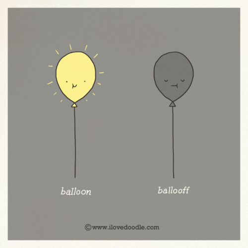 ilovedoodle:  Balloon Ballooff on Flickr. Doodle Everyday 382Website / Facebook / Twitter / Tumblr / Etsy