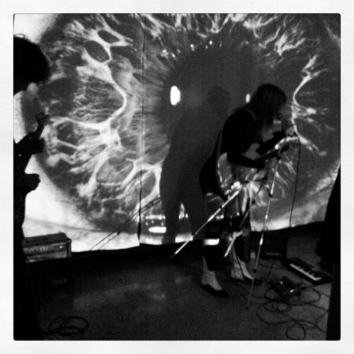 MRK during our last show #Portals at #amplifyla #emergedproductions #digitalart #music