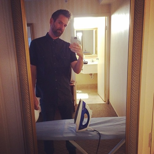 At my hotel getting ready for #FMMF tonight in Columbus. I suck at ironing.