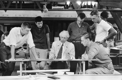 fllwfoundation:  In 1957, two years before his death, Frank Lloyd Wright sat down with WNYC to discuss his design philosophy, exhibiting his trademark eloquence and blistering opinions. Listen here.