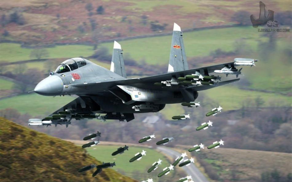 TooCats - Original Thoughts • Shenyang J-16 (with CGI full bomb ...