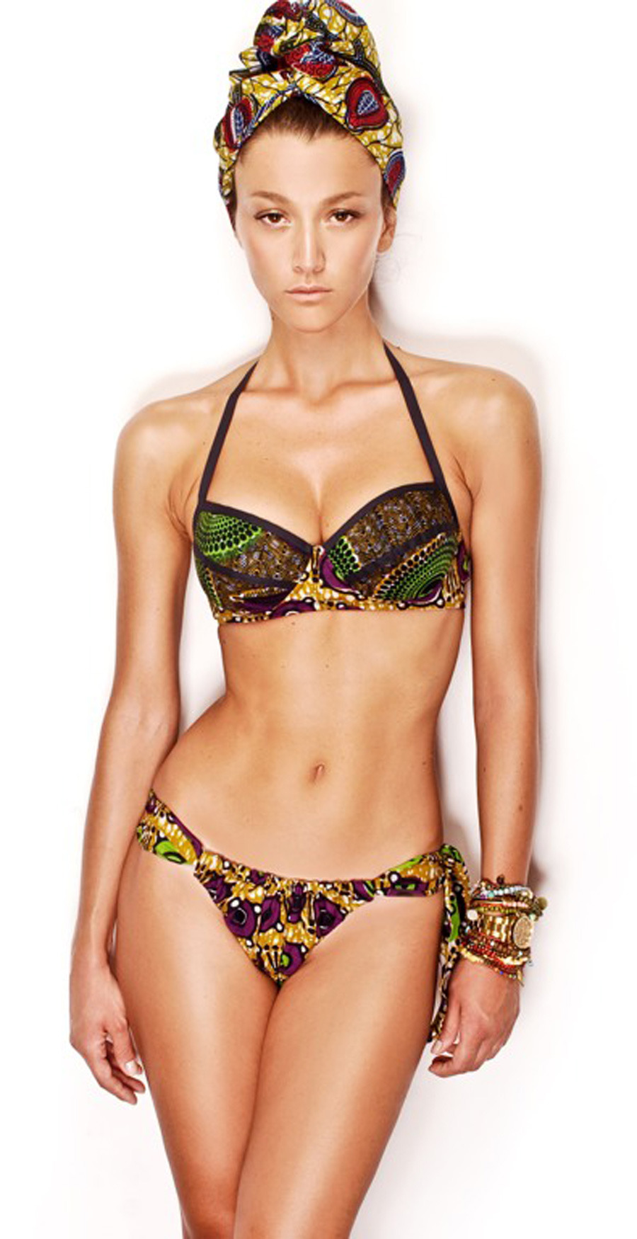 cutfromadiffcloth:  Brand: Stella Jean Designer: Stella Jean 2012 Beachwear Collection  cutfromadiffcloth.tumblr.com