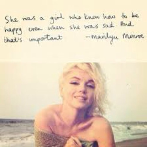 She was a girl who knew how to be happy even when she was sad … & that's important . 😘