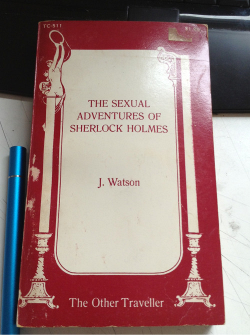thescienceofjohnlock:  msaether:  homosociallyyours:  msaether:  mcxi:  msaether:  Fucking! Damian found me the first ever published johnlock smut!!!!! How fucking perfect?!?!   Anything for you, bb. <3      YES! THIS!  i talked with a TX Sherlockian pal about this book (she was telling me about it) and then last week as I was deleting pictures from my phone I found a photo i took of a footnote in the sherlock canon collection all about this book and basically I LOVE THAT YOU HAVE IT!  please please if you find a way to share the best bits that would be amazing and perfect.  or. OH GOD, PLEASE FAN ART SOME SEXY BITS!   hahaha YES I WILL I have only flipped through because it's pretty old and i don't want to break it but thus far apparently someone had been killed via huge cock   Can someone tell me, is this the same book as this one?  This one also has someone killed by a big cock, same title and mine is a Badboy first edition 1993. I've seen only a couple of these up for sale and there are 2 on Amazon UK for well over £1000.