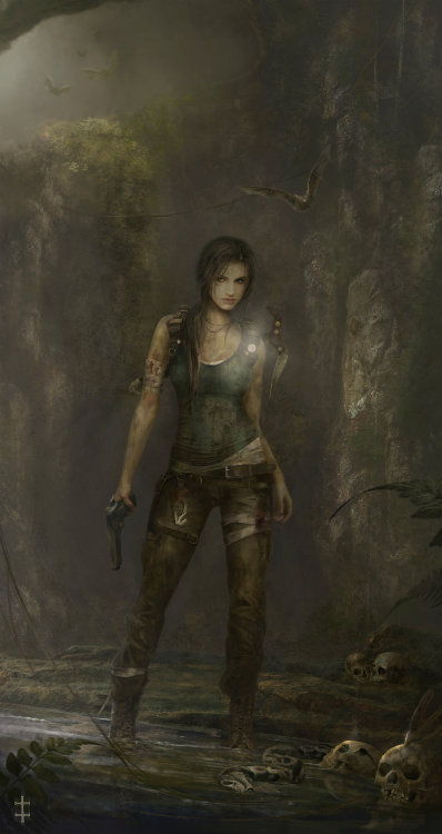 xombiedirge:  The Young Lara Croft by Eve Ventrue / Website