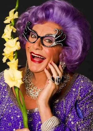 fortisforte:  My style icon is Dame Edna Everage, Purple hair and wacky glasses. Sassy as heck.