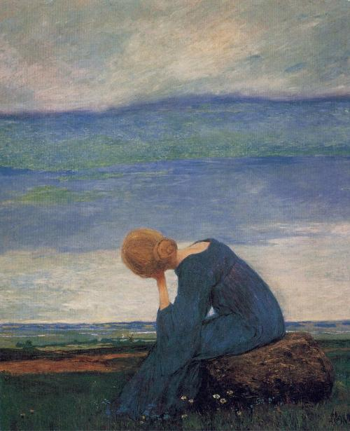 poboh:  Longing, 1900, Heinrich Vogeler. Germany (1872 - 1942)