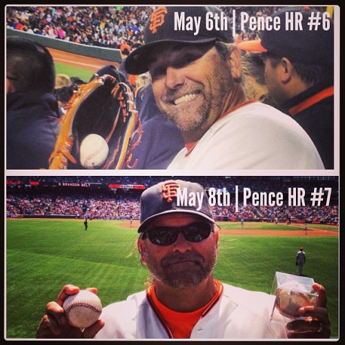 I don't always catch Hunter Pence Home Runs, oh wait. I actually do #SFGiants