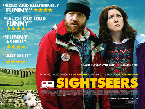 #128 Sightseers (2012) Dir. Ben Wheatley   I'm sure most people on here will recognise Ben Wheatley as the director of last years Kill List which made a big splash over here in the UK but only managed a small dint in the US. Well anyway, Britain's hottest new director is back barely 12 months later with Sightseers which operates on a much lighter plain to it's predecessor but still retains it's murderous tonal shifts. Much like Kill List this film seems to have to come out of nowhere and be full of surprises. It's now clear that Wheatley has a very distinctive voice and a great ear for characters. As far as one-two sucker punches go Kill List and Sightseers is pretty damn strong. Watched back to back they announce the arrival of a fresh and home grown talent with a diverse set of tools at his disposal. I like that his films are painted on small character-driven canvases but they play with large splashes of expressive technicolor imagery and successfully blend genre conventions with mundane kitchen-sink details. The script here is sharp as hell and the bizarre mix of caravanning in the dales with shocking bursts of violence turns out to be a delightful cocktail. With this film I'm officially a big fan of Ben Wheatley and feverishly anticipate movie number four (which has already wrapped shooting!)