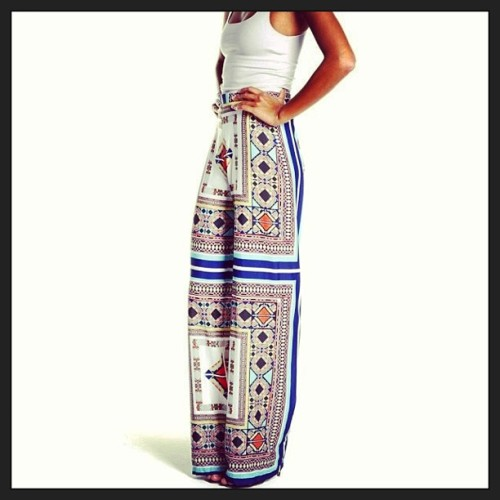 #tribal #patterned #pants #womenswear #fashion #style #chic #beautiful