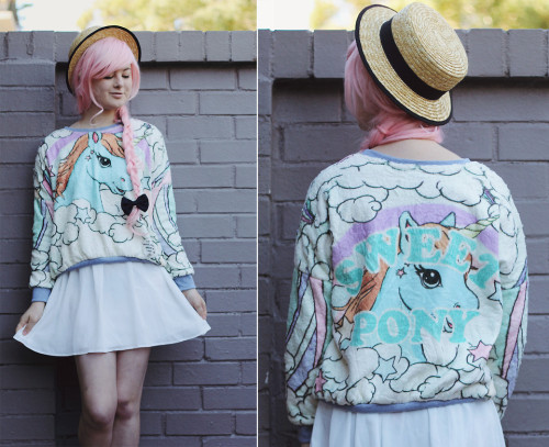 lookbookdotnu:  Pastel Unicorns (by Annika Victoria)  I need that sweater!