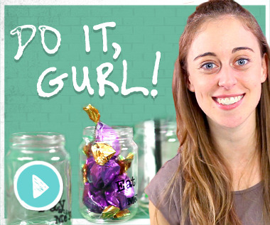 It's DIY time! Jamie is teaching you how to make these super cute traced jars in the latest episode of Do It, Gurl!