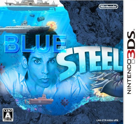 Blue Steel [Nintendo 3DS] Nintendo with a bold move not only to turn a movie into a videogame but also as a launch title. This time, Derek Zoolander finds himself in an epic adventure under the sinister depths of the ocean floor where he will test his most valued weapon against  enemy front lines.