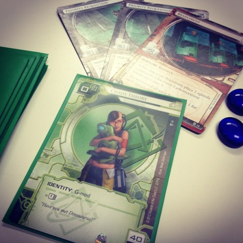 You did good tonight kiddo… WIN! #android #netrunner #chaostheory #cards #cardgame #bgg #boardgamegeek #fantasyflight