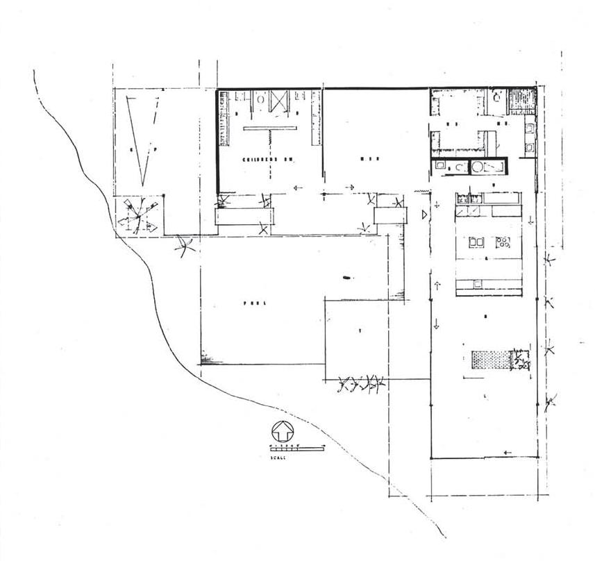 Plans of architecture pierre koenig case study house nr for Case study houses floor plans
