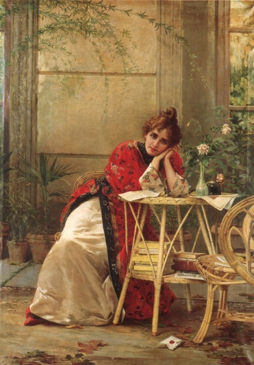 old-fashionedcharm:  Ignace Spiridon (1884-1900) - So Far From Home