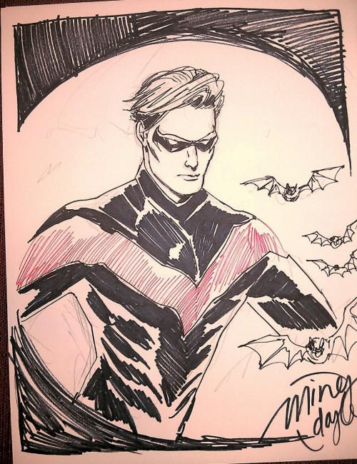 Nightwing sketch.