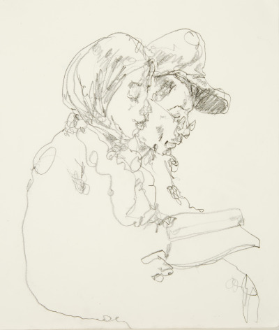 mountvision:  Passengers reading, drawn on the 1 subway train nyc, graphite on paper. Gregory Muenzen