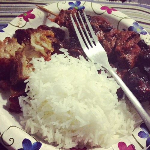 Lichon, fresh cooked rice and the best Filipino BBQ in the State of Florid #sarapsarap #actubestasianbbq #nojoke #soblessed