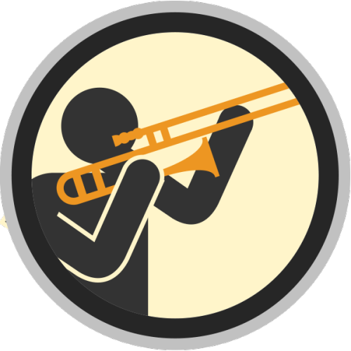 lifescouts:  Lifescouts: Trombone Badge If you have this badge, reblog it and share your story! Look through the notes to read other people's stories. Click here to buy this badge physically (ships worldwide). Lifescouts is a badge-collecting community of people who share their real-world experiences.  fun fact the first time i picked up the trombone in  a year was the day of my jazz band audition and i made it whooooo.