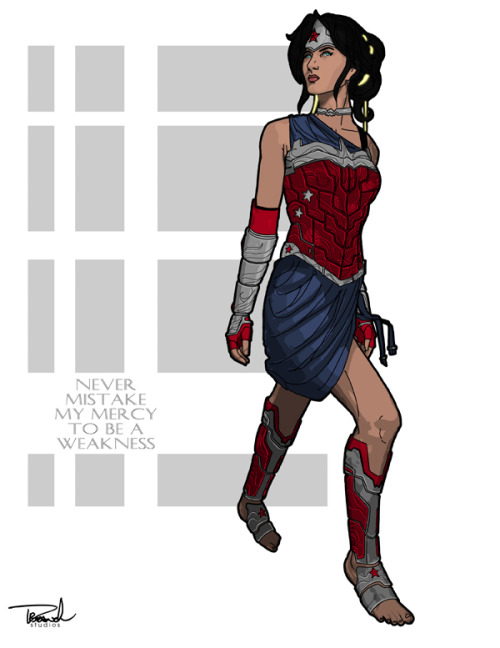 lulubonanza:  Bare-footed Wonder Woman by ~tsbranch