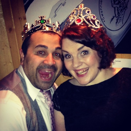 A dubious honor but my husband and I were crowned prom queen and king of Spenard tonight. This basically makes us the goblin monarchy of hipsters in Anchorage.