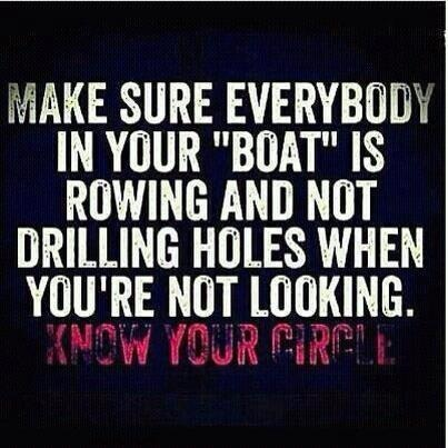 Know your circle & keep it small!