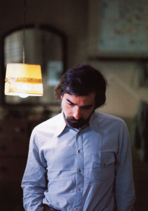 Martin Scorsese photographed by Steve Schapiro on the set of Taxi Driver