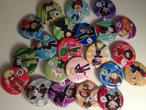 Giveaway time! Winner gets all the buttons in the picture I ship internationally Like and reblog as much as u want (no need 2 follow) Ends probably February 17th