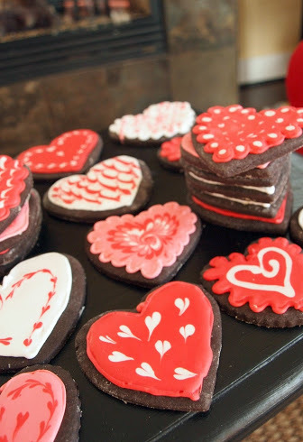 Chocolate Coffee Cut-out Heart Cookies