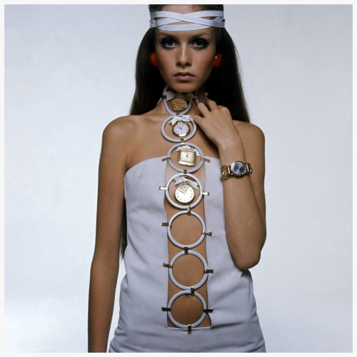 rumikokoyanagi:   Twiggy Wearing Watch Accented Dress Bert Stern 1967 Condè Nast