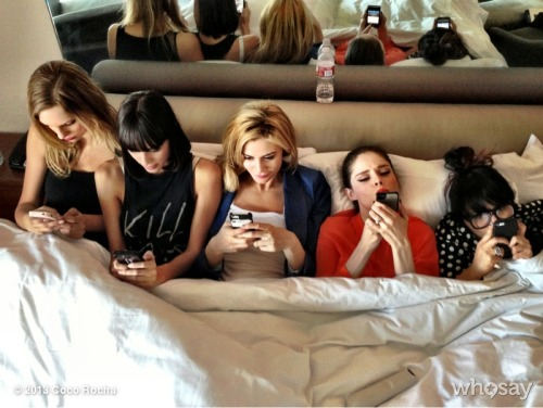 Oscar Twitter party with #TeamCoco!!  View more Coco Rocha on WhoSay