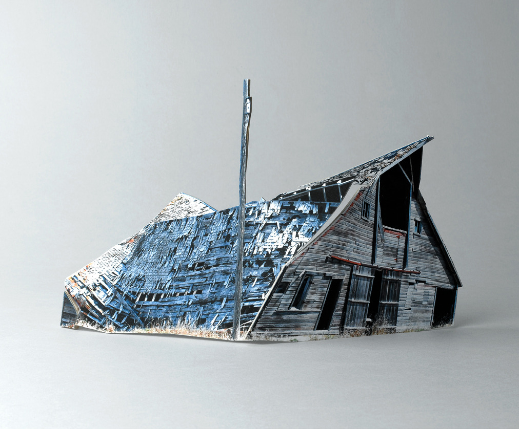 letsbuildahome-fr:  Ofra Lapid - Broken Houses (2010) A series of small-scale models based on photographs of ruined homes the artist found on the web by an amateur (unnamed) photographer.