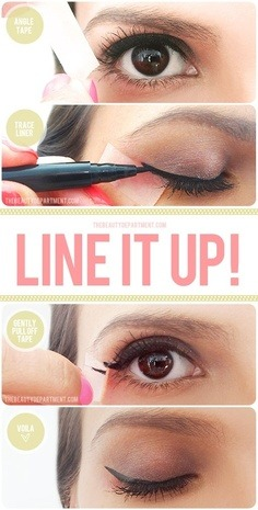 Take this tutorial to line it up. Get even more makeup looks here.