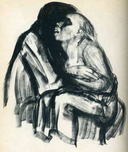 Käthe Kollwitz - Death with Girl in Her Lap