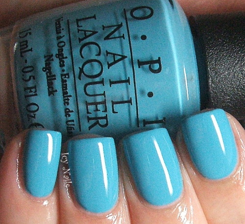 OPI Can't Find My Czechbook. Bright pool blue, perfect for Summer! Please click through for more details.