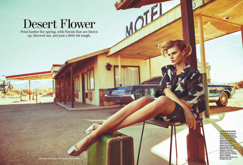 """Desert Flower"" (+) Allure, April 2013 photographer: Sebastian Kim Maryna Linchuk"