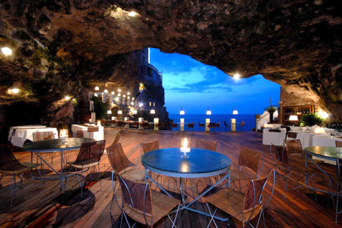 thesilverfin:  Dinner in a cave ~ Puglia, Italy