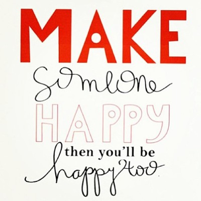 Make someone #happy and you will be #happy too!  Via @thehappyyogamom ❤