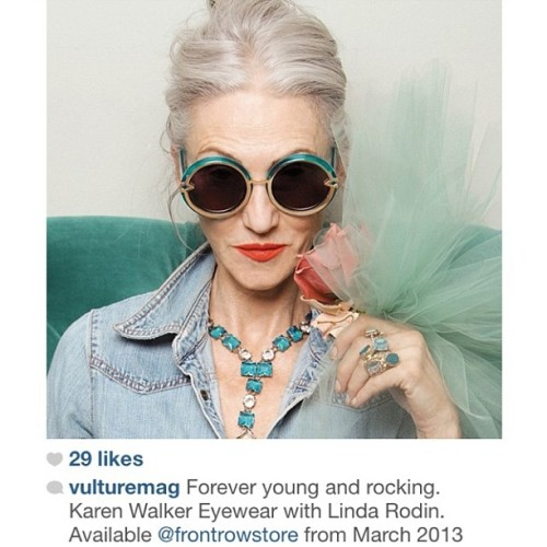 Karen Walker eyewear Forever, in store Mar 2013. Follow @vulturemag #neverold #frontrowstore