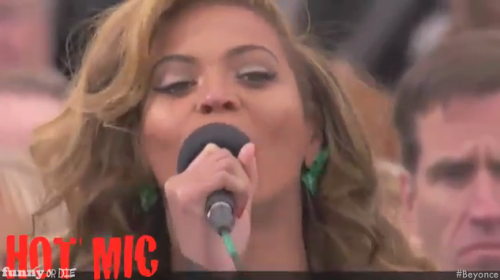 Funny Or Die has uncovered the exclusive audio of Beyonce lip-syncing at Barack Obama's inauguration: (via Video: What Beyonce really sounded like)