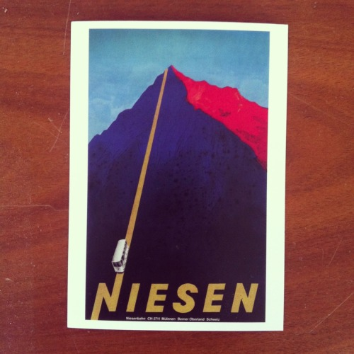 Niesen. Postcard for my graphic collection. Classics.