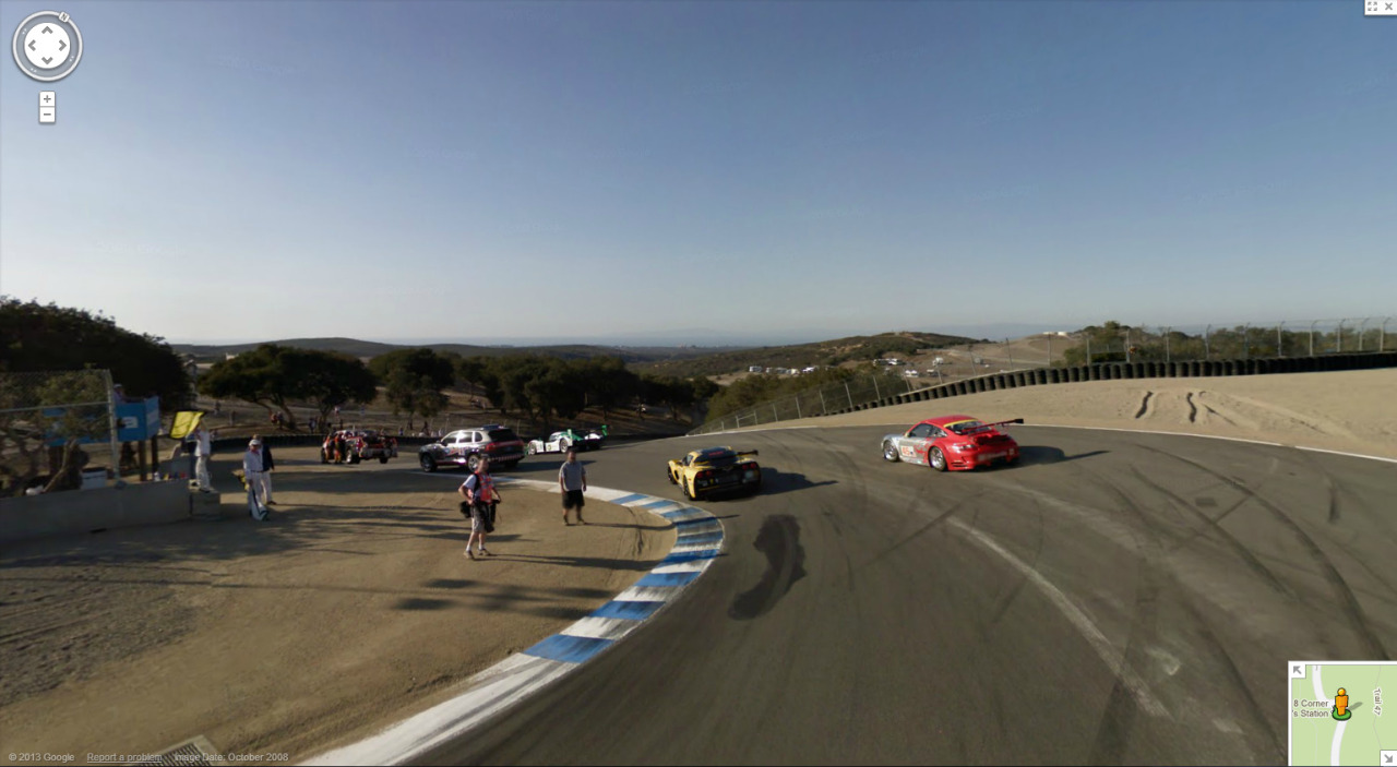 http://goo.gl/maps/QUr28 Google did Laguna Seca with cars on it as well!
