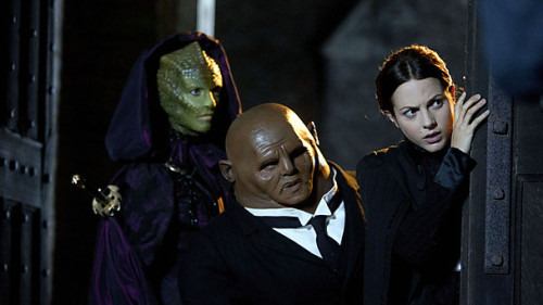 BBC Doctor Who Blog - Vastra, Jenny and Strax  There's a great deal to look forward to in the Christmas Special. The Doctor is back, Jenna-Louise Coleman returns, there are scary snowmen in Victorian London and the sinister Doctor Simeon, played by Richard E Grant, is up against the Time Lord. And apart from all of this, we say hello again to Madame Vastra, Jenny Flint and Strax, last seen in The Great Detective. These three remarkable friends debuted in A Good Man Goes to War and now form three-quarters of the Paternoster Gang, with the Doctor himself the fourth member of the team. We can't wait to see them back and to celebrate their return we've created their own sections of the site where you can learn more about them and check out their clips and galleries.  Direct links to the pages: Madame Vastra Jenny Flint Strax