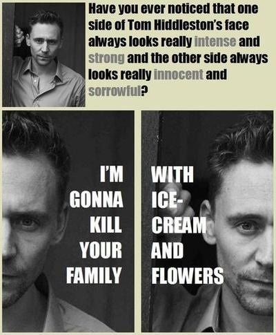 laughhard:  Tom Hiddlestons face