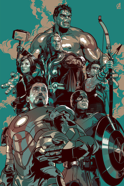 The Avengers  - by Organica Gran Prints available from Society6
